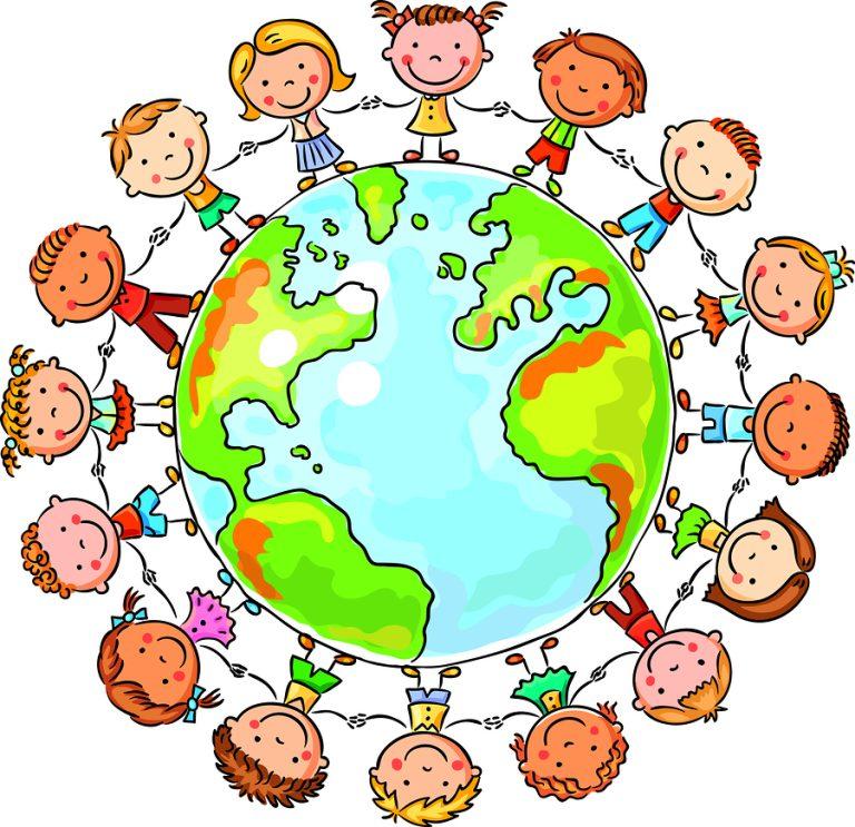children round the globe